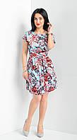 Женское летнее платье под пояс., фото 1