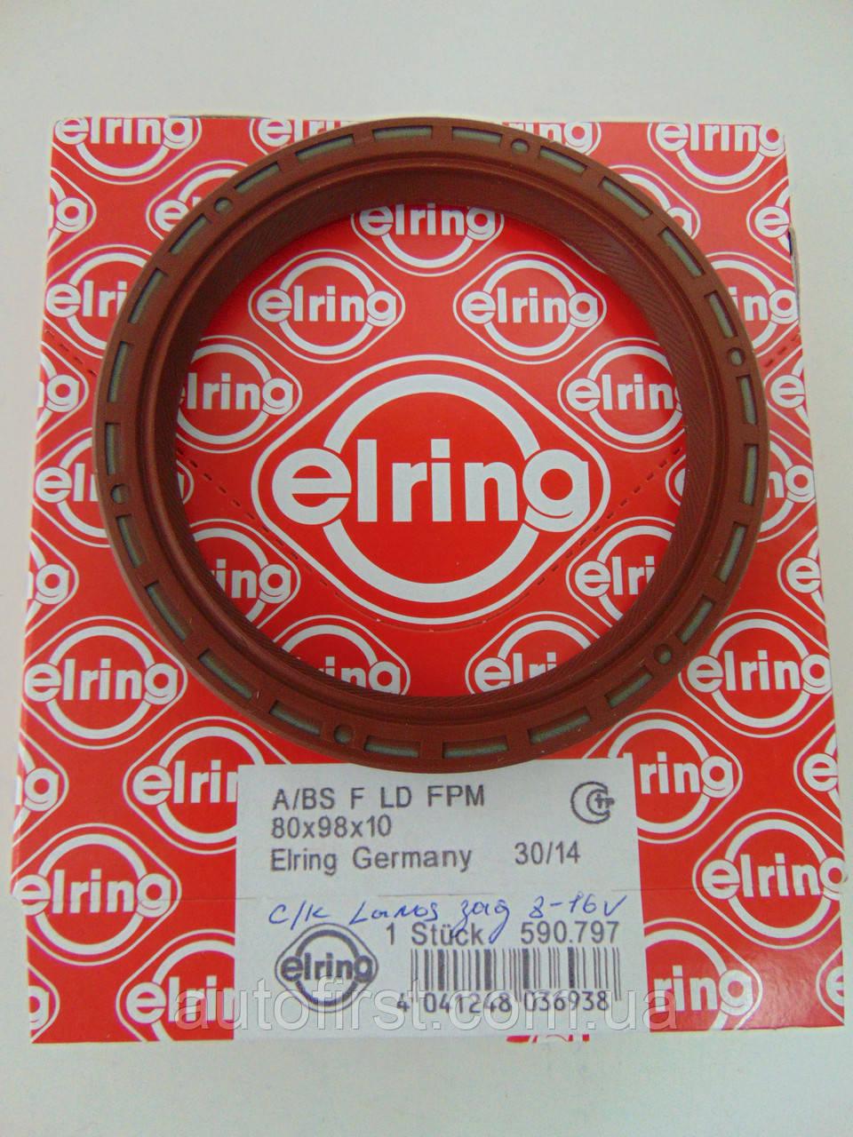 Elring 590.797 Сальник коленвала задний Daewoo Lanos