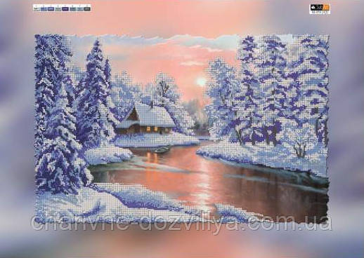 "Схема для вышивки бисером на подрамнике (холст) ""Зимний пейзаж"" - интернет-магазин Чарівниця в Херсоне"