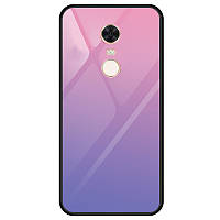TPU+Glass чехол Gradient series для Xiaomi Redmi 5 Plus / Redmi Note 5 (SC) Фиолетовый