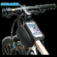 "Велосипедная двухсторонняя сумка на раму Roswheel Elite 12813-A2 для смартфонов до 6"", фото 1"