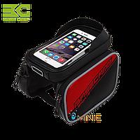 """Велосипедная двухсторонняя сумка на раму BaseCamp BC-301 для смартфонов до 6"""""""