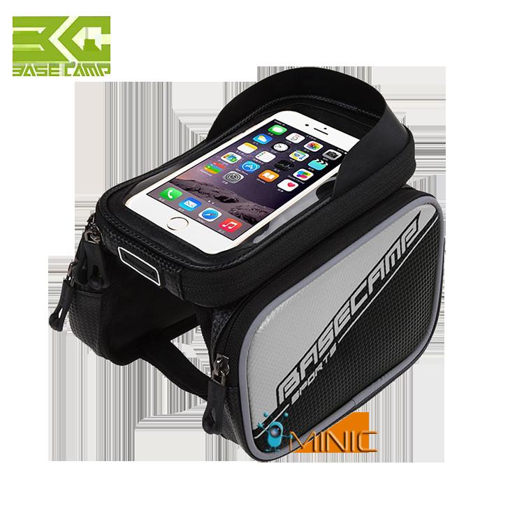 """Велосипедная двухсторонняя сумка на раму BaseCamp BC-301 для смартфонов до 6"""", фото 1"""