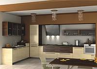 Кухонная мебель, кухни с фасадами из шпона Киев