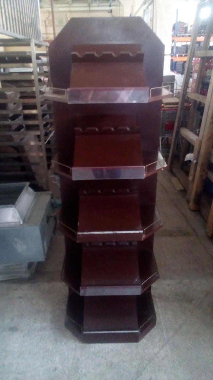 Стеллаж деревянный для вина, винный шкаф 180*60*42 см б/у