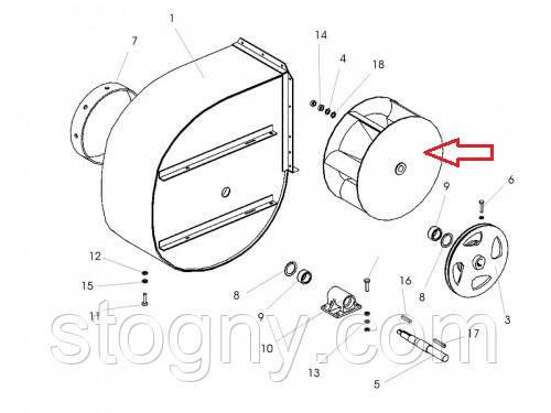 Крильчатка Робоче колесо ОВІ 03.130, фото 2