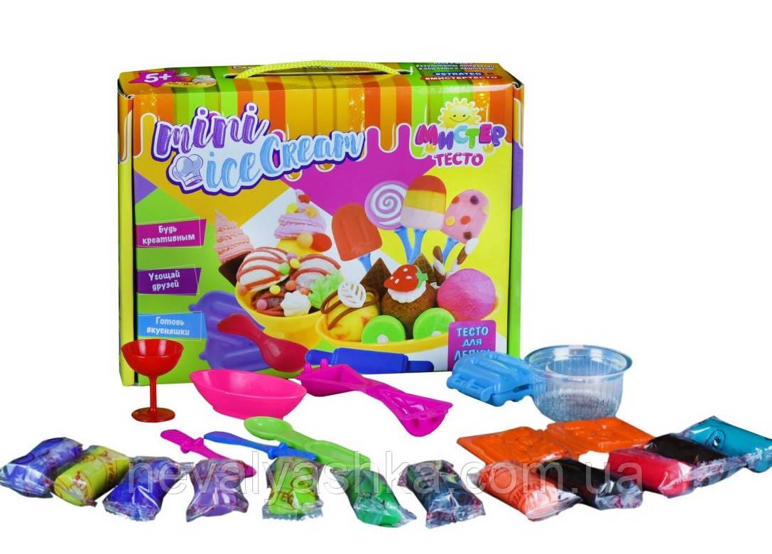 Набор для творчества Мистер тесто, Мини Мороженое, тесто для лепки Стратег Strateg 71202, 010168