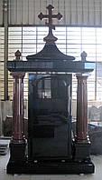 Элитный памятник с колоннами и крестом