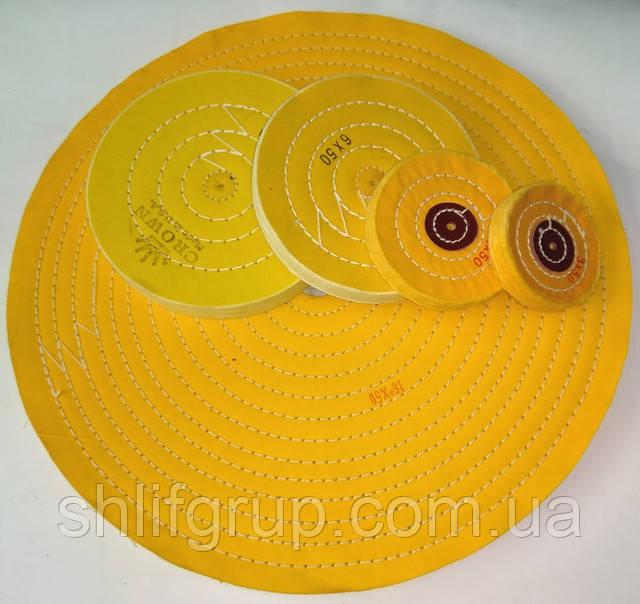 Желтые муслиновые насадки полировальные
