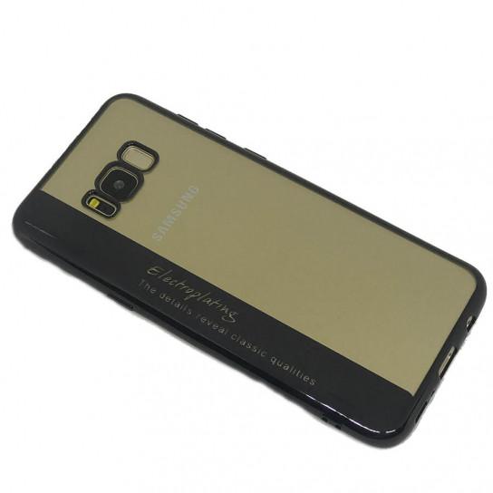 TPU чехол Electroplating для Samsung G955 Galaxy S8 Plus Черный