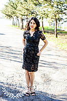 Женское маленькое кружевное черное платье