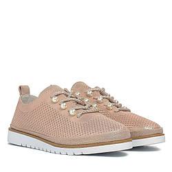 Туфли женские LIFEEXPERT (розовые, на шнурках, модные)