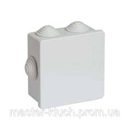 Коробка ответвительная квадратная DKC 80*80 с кабельными вводами. IP44