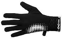 Перчатки для велосипеда зимние -  ветронепроницаемые. Черный