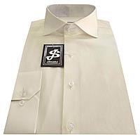 Мужская рубашка приталенная из сатина 10-12А, 10-12 - 606А/11-4301