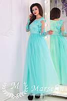 Женское обворожительное платье в пол 3D жемчуг