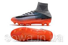 "✔️ Футбольные бутсы Nike Mercurial Superfly V CR 7 AG-PRO ""Coll Grey/Metalic Hematit/Wolg Grey""  , фото 2"
