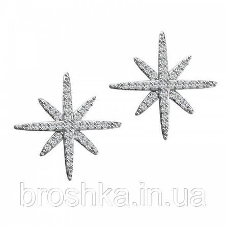Серьги пусеты звезды ювелирная бижутерия, фото 2
