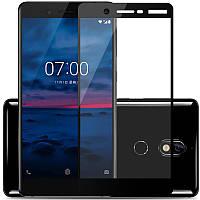 Защитное цветное стекло Mocolo (CP+) на весь экран для Nokia 7 Черное