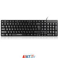 Клавиатура Vinga KB310BK Тип - проводная, конструкция - мембранная, интерфейс подключения - USB, цве