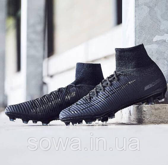 "✔️ Футбольные бутсы Nike Mercurial Superfly V DF-FG ""Black"""