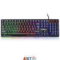 Клавиатура Vinga KB421 black Тип - мультимедийная, проводная, с подсветкой, конструкция - мембранная