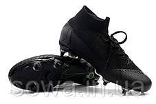 "✔️ Футбольные бутсы Nike Mercurial Superfly VI Elite SG AC ""Black""  , фото 3"