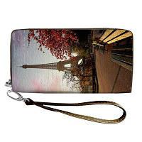 Кошелёк на замке BIG (экокожа) Париж, Эйфелева башня