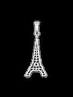 Подвес серебряный Эйфелева Башня