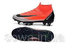 "✔️ Футбольные бутсы Nike Mercurial Superfly VI Elite CR7 SG ""Mango/Black"" , фото 2"