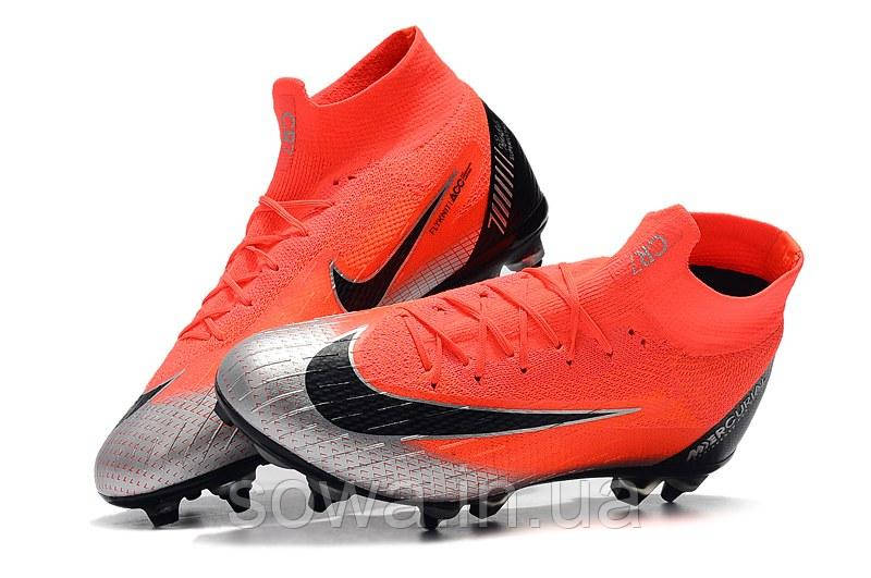 "✔️ Футбольные бутсы Nike Mercurial Superfly VI Elite CR7 SG ""Mango/Black"""