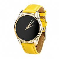 Часы Ziz Минимализм черный, ремешок лимонно-желтый, золото и дополнительный ремешок - 142887