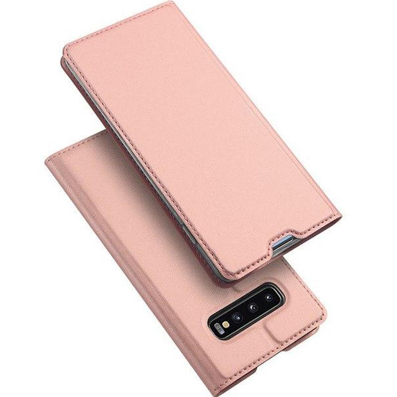 Чехол-книжка Dux Ducis с карманом для визиток для Samsung Galaxy S10 Rose Gold
