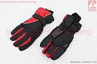 Перчатки черный/красный, ЗИМА
