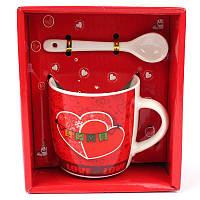 Чашка с ложечкой в подарочной упаковке Love - 132083