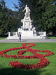 """Вена. Штад парт. Памятник Моцарту (фото туриста из тура «Флирт итальянского вкуса""""_"""