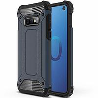 Бронированный противоударный TPU+PC чехол Immortal для Samsung Galaxy S10e Металл / Gun Metal