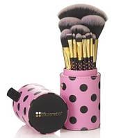 Кисти для макияжа BH Cosmetics 11 pc Pink-A-Dot Brush Set