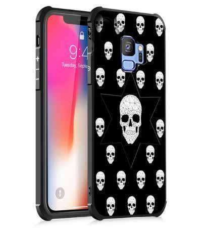 Противоударный TPU чехол Sweet Art для Samsung Galaxy S9+ Череп