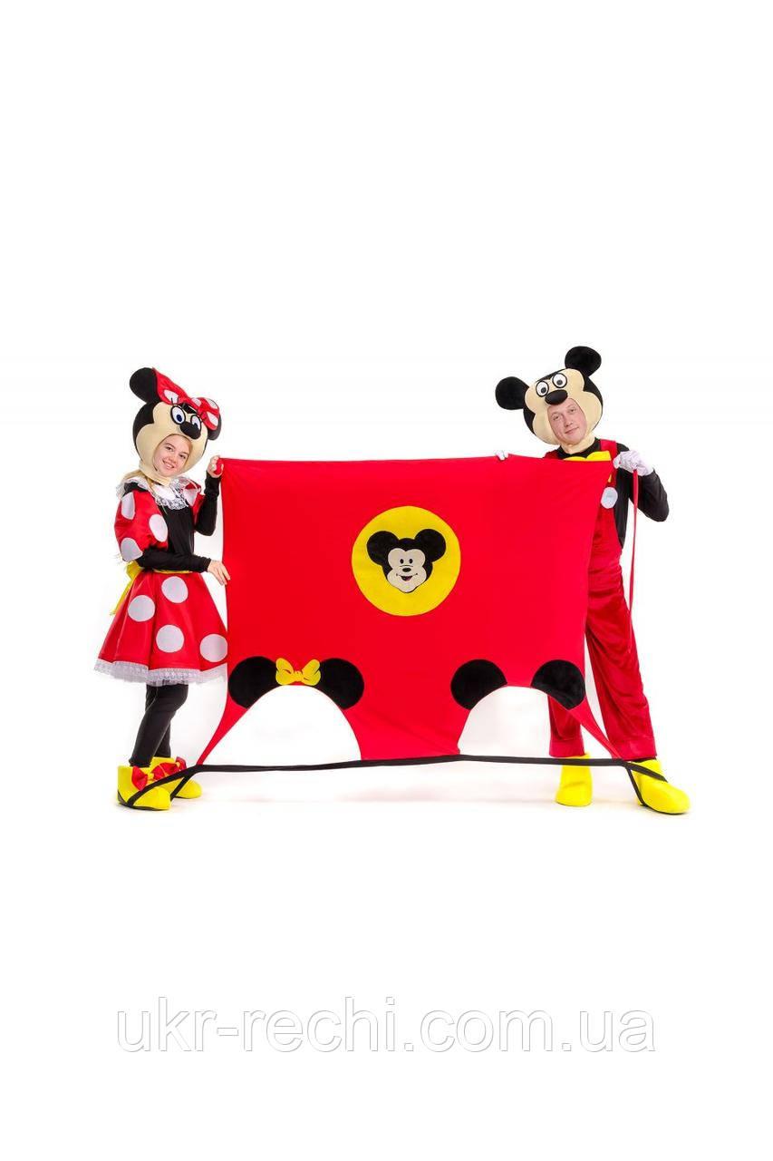 Ігровий килимок «Міккі і Мінні Маус» реквізит для аніматорів