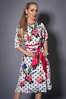 Атласное красивое платье женское