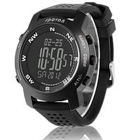 Многофункциональные часы Spovan Bravo. Черный циферблат.