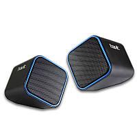 Колонки 2.0 Havit HV-SK473 Black/Blue, 2 x 3 Вт, пластиковый корпус, питание от USB, управление сзади