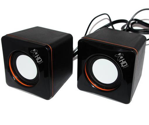 Колонки 2.0 HQ-Tech HQ-SP04U Black/Orange, 2 x 3 Вт, пластиковый корпус, питание от USB, управление сзади, фото 2