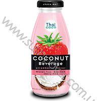Напиток кокосовый Thai coco со вкусом клубники 280мл