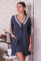Комплект   халат и туника на бретелях  Nicoletta 91117, фото 1