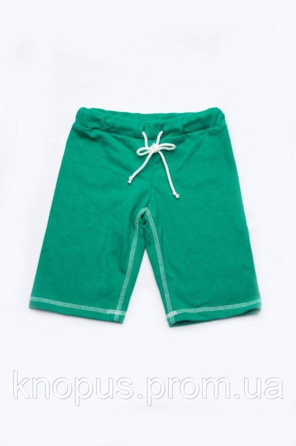 Шорты-бермуды для мальчиков зеленые трикотажные (пике), Модный карапуз, размер 104