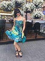 Платье сарафан нарядное шелковое цветное, фото 1