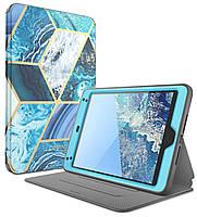 "Противоударный чехол для Apple iPad Mini 5 7.9"" 2019 / Mini 4 2015 i-Blason Cosmo Trifold Cover BLUE"