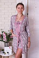 Комплект тройка  халат, майка, шорты Nicoletta, фото 1